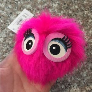 NWT Kate Spade Monster Pouf Keychain / Fob